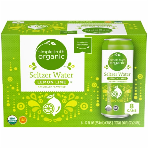 Simple Truth Organic™ Lemon Lime Seltzer Water Perspective: front