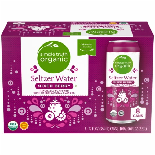 Simple Truth Organic™ Mixed Berry Seltzer Water Perspective: front