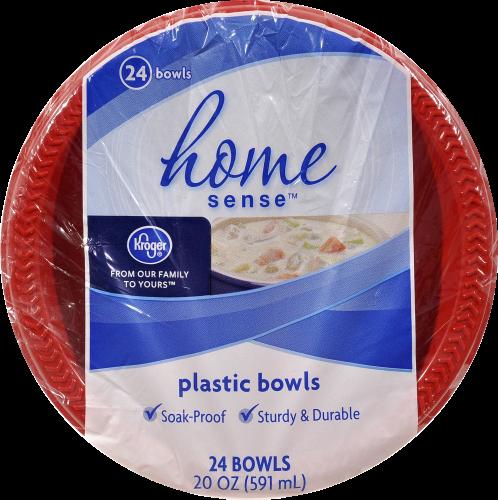 Kroger® ® Red Plastic Bowls Perspective: front