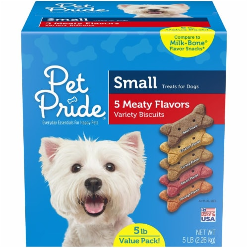 Pet Pride™ Small Dog Treat Biscuits Variety of Flavors Value Pack Perspective: front