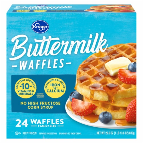 Kroger® Buttermilk Waffles Perspective: front