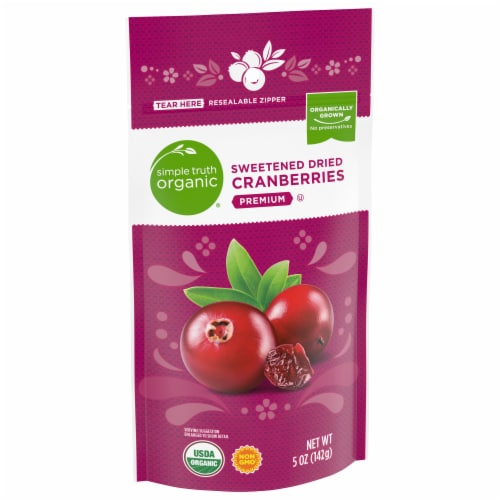 Simple Truth Organic® Premium Sweetened Dried Cranberries Perspective: front