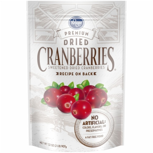 Kroger® Premium Sweetened Dried Cranberries Perspective: front