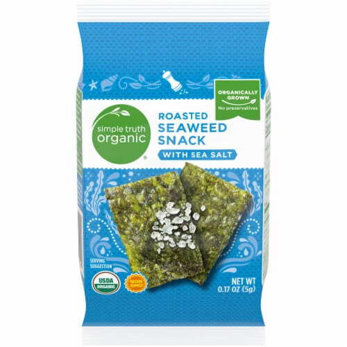 Simple Truth Organic® Roasted Seaweed Snack With Sea Salt Perspective: front
