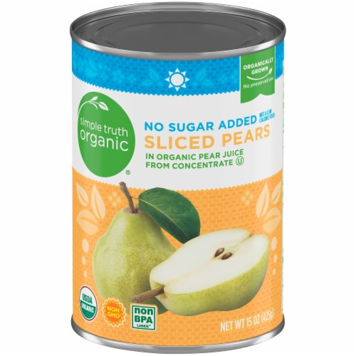 Simple Truth Organic® No Sugar Added Sliced Pears Perspective: front