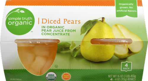 Simple Truth Organic™ Diced Pears in Juice Perspective: front