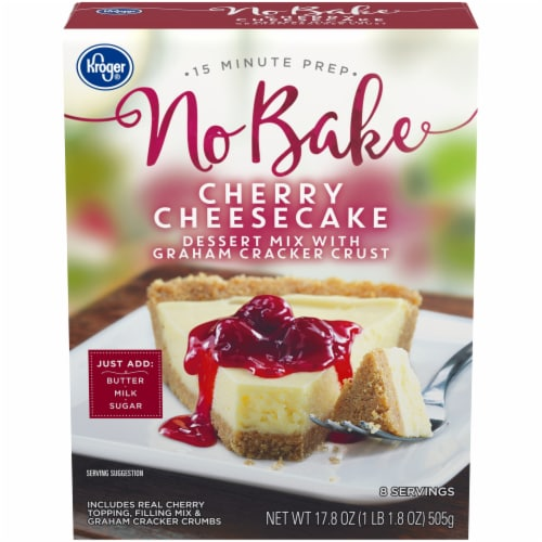 Kroger® No Bake Cherry Cheesecake Dessert Mix Perspective: front