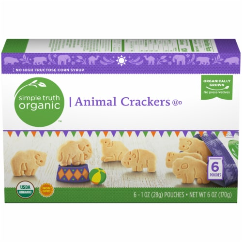 Simple Truth Organic™ Animal Crackers Pouches 6 Count Perspective: front