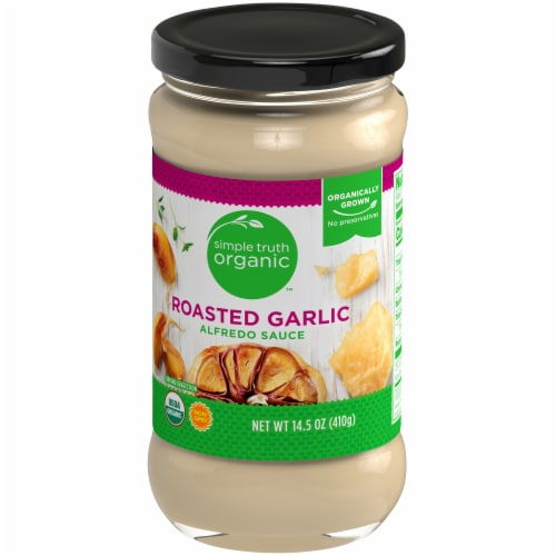 Simple Truth Organic™ Roasted Garlic Alfredo Sauce Perspective: front