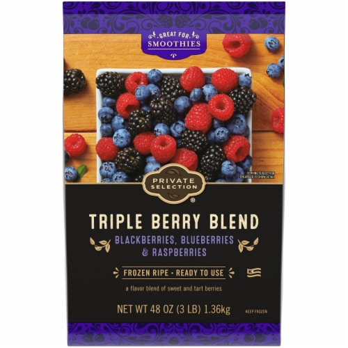 Private Selection® Triple Berry Blend Frozen Fruit Perspective: front