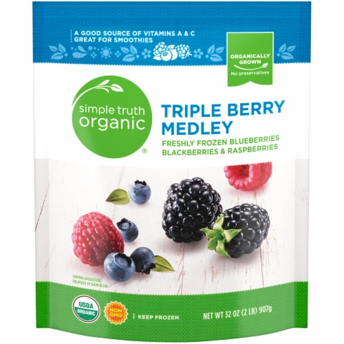 Simple Truth Organic® Frozen Triple Berry Medley Perspective: front
