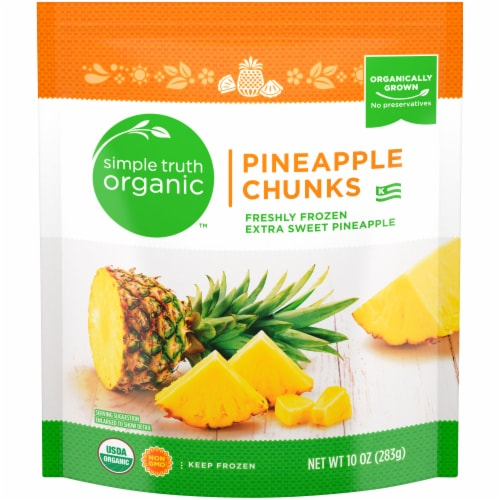 Simple Truth Organic™ Frozen Pineapple Chunks Perspective: front