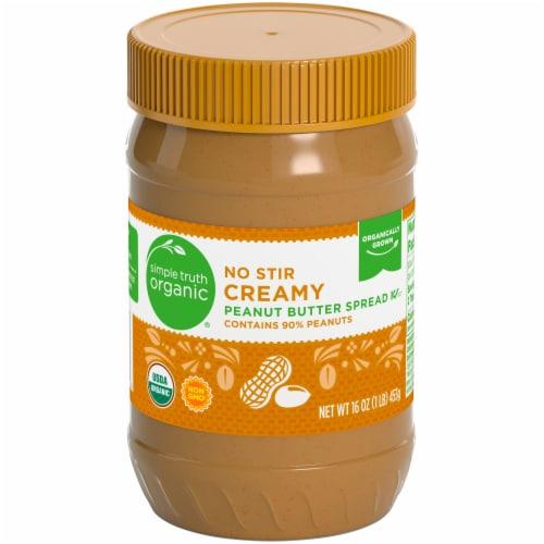 Simple Truth Organic® No Stir Creamy Peanut Butter Perspective: front