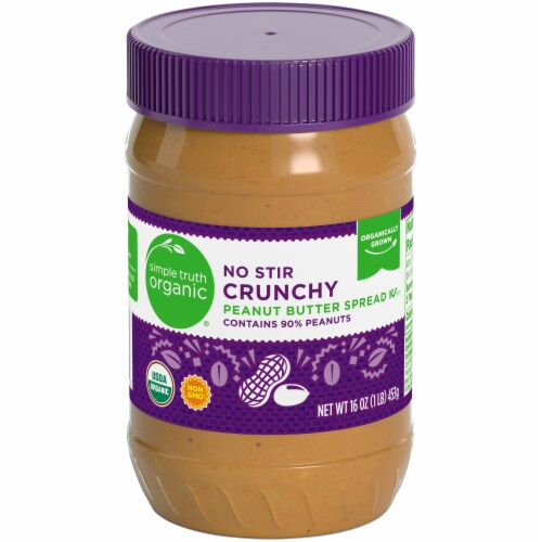 Simple Truth Organic® No Stir Crunchy Peanut Butter Spread Perspective: front