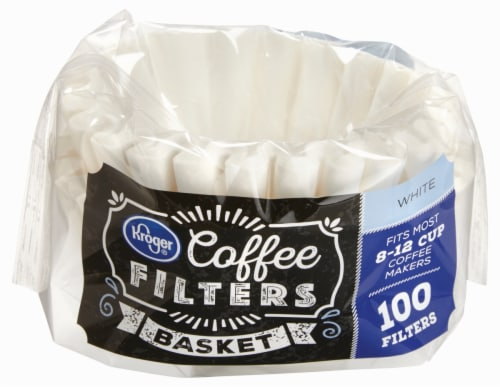 Kroger® Basket Coffee Filters - White Perspective: front