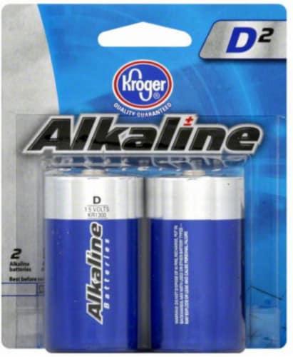 Kroger® D Alkaline Batteries Perspective: front