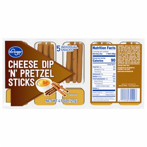 Kroger® Cheese Dip 'N' Pretzel Sticks 5 Count Perspective: front