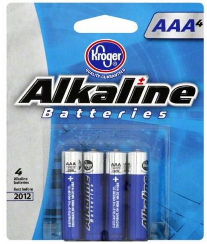 Kroger® AAA Alkaline Batteries Perspective: front