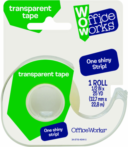 Office Works® Transparent Tape - 1 Roll Perspective: front