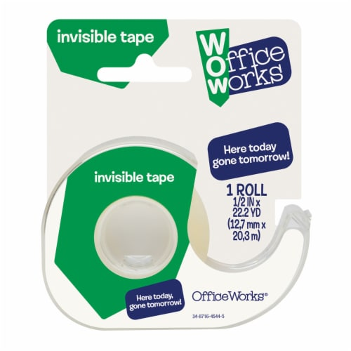Office Works® Invisible Tape - Clear Perspective: front