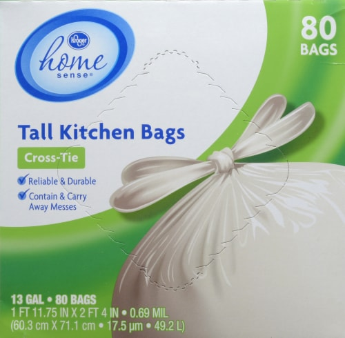 Kroger Tall Cross Tie 13 Gallon Kitchen Trash Bag 80 Ct Ralphs
