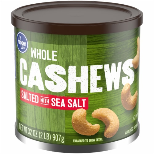 Kroger® Salted Whole Cashews Perspective: front