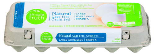 Simple Truth™ Natural Cage Free Grain Fed Grade A Large White Eggs Perspective: front