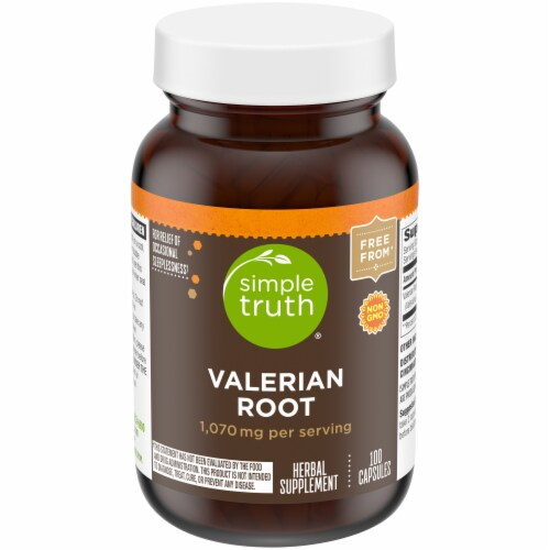 Simple Truth® Valerian Root 1070mg Capsules Perspective: front