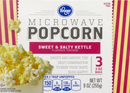 Kroger® Sweet & Salty Kettle Microwave Popcorn Perspective: front