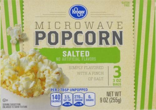 Kroger® Salted Microwave Popcorn Perspective: front