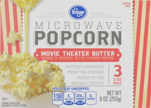 Kroger® Movie Theater Butter Microwave Popcorn Perspective: front