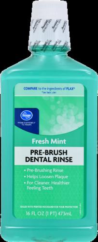 Kroger® Fresh Mint Pre-Brush Dental Rinse Perspective: front