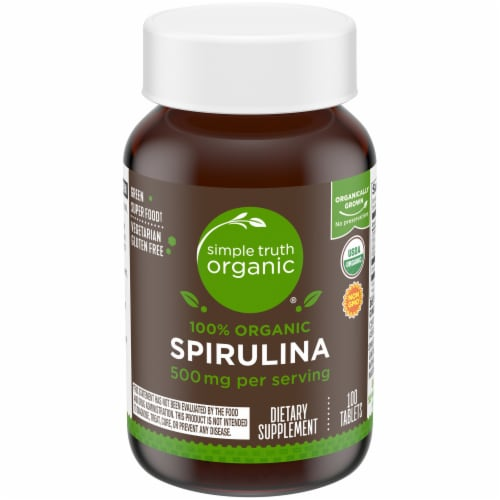 Simple Truth Organic® 100% Organic Spirulina Tablets 500mg Perspective: front