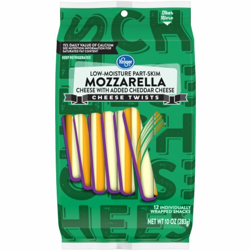 Kroger® Mozzarella & Cheddar Cheese Twists Perspective: front