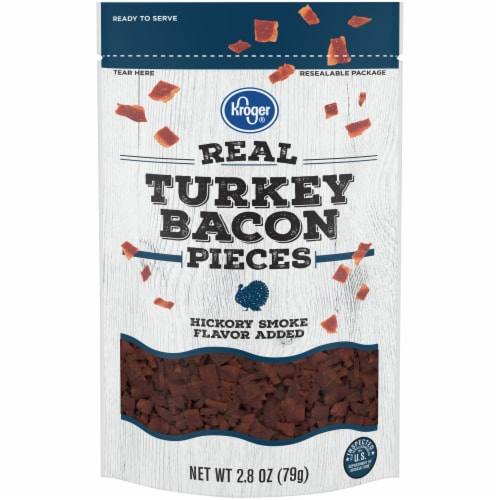 Kroger® Hickory Smoke Real Turkey Bacon Pieces Perspective: front