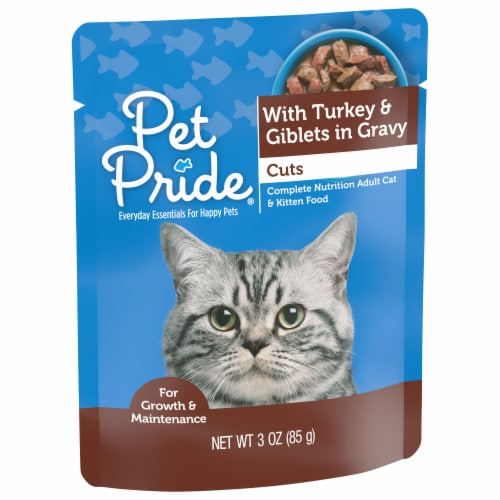 Pet Pride® Cuts with Turkey & Giblets in Gravy Wet Cat Food Perspective: front