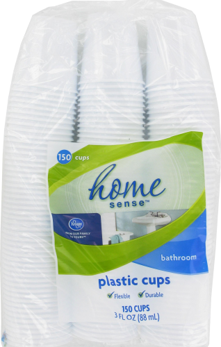 Kroger® Home Sense® Plastic Bathroom Cups Perspective: front