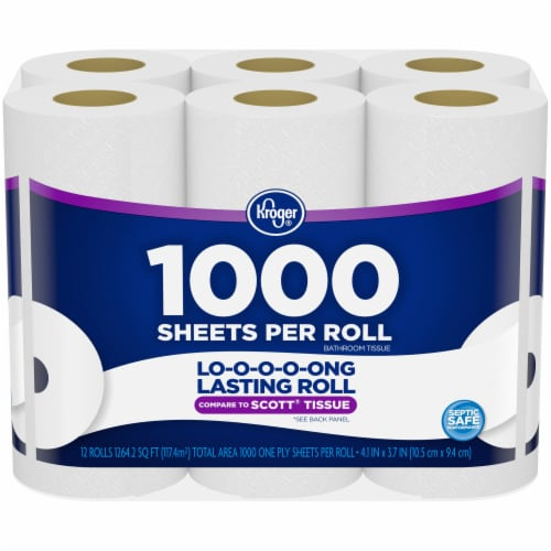 Kroger® Roll Bath Tissue - 1000 Sheets Perspective: front