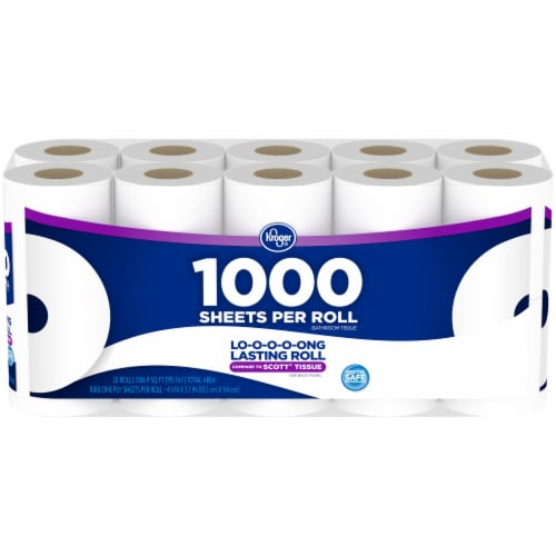 Kroger® 1000 Sheets Per Roll Bath Tissue 20 Ct Package Perspective: front