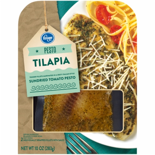 Kroger® Tilapia with Sundried Tomato Pesto Sauce Perspective: front