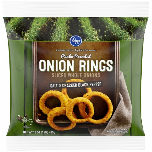 Kroger® Panko Breaded Salt & Cracked Black Pepper Onion Rings Perspective: front