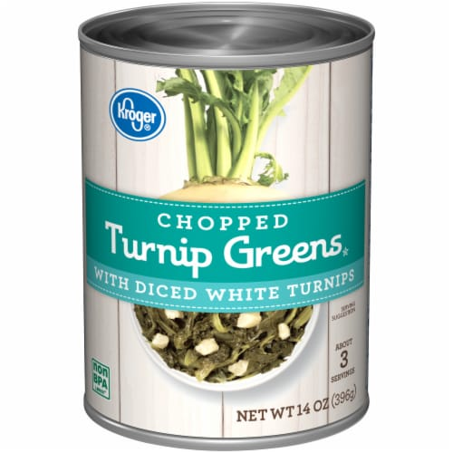 Kroger® Chopped Turnip Greens with Diced White Turnips Perspective: front