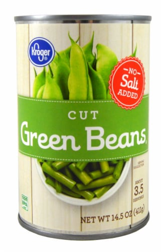 Kroger® No Salt Added Cut Green Beans Perspective: front
