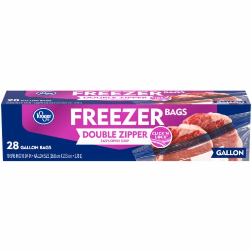 Kroger® Double Zipper Gallon Size Freezer Bags Perspective: front