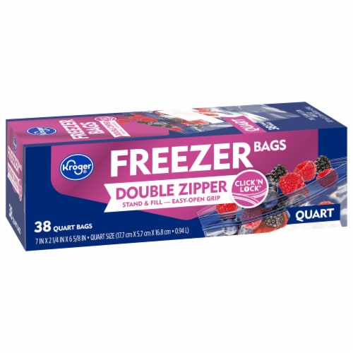Kroger® Double Zipper Quart Freezer Bags Perspective: front