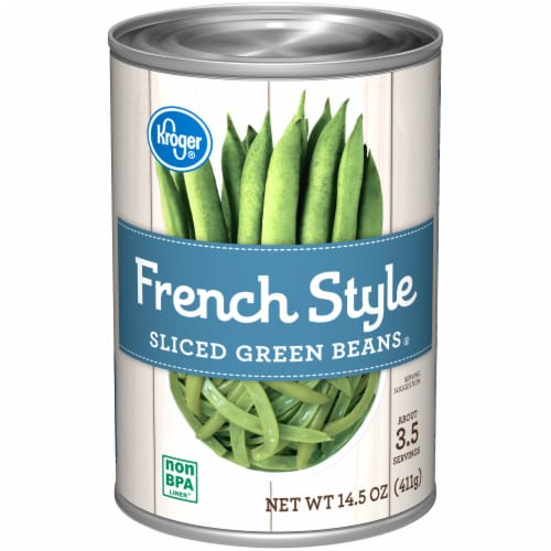 Kroger® Canned French Style Sliced Green Beans Perspective: front