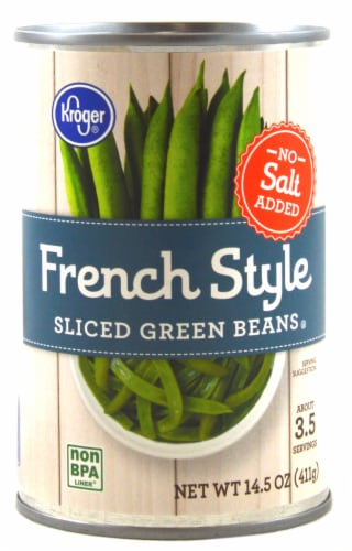 Kroger® No Salt Added French Style Sliced Green Beans Perspective: front
