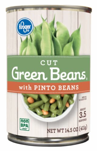 Kroger® Cut Green Beans with Pinto Beans Perspective: front
