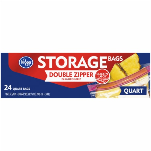 Kroger® Double Zipper Quart Storage Holiday Bags Perspective: front
