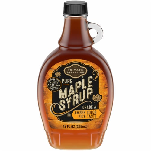 Private Selection® 100% Pure Grade A Amber Color Maple Syrup Perspective: front